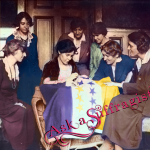 lice Paul and National Woman's Party sew stars on flag as states ratify the Nineteenth Amendment Ask a suffragist stories and wisdom from americas first feminists watermark